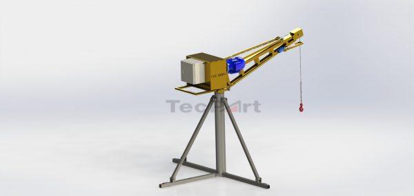 MINI-GRUA-CAP.-500-KG-MODELO-TP1-Vista-Isométrica