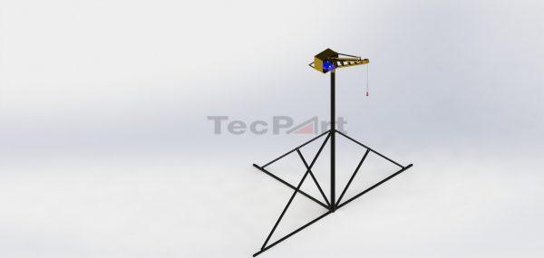 MINI-GRUA-CAP.-500KG-MODELO-TP1-COM-TRIPÉ-45m-Vista-Isométrica-REV.-A-OPOSTA