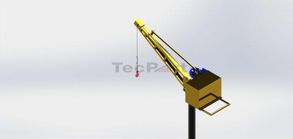 MINI-GRUA-CAP.-500KG-MODELO-TP1-COM-TRIPÉ-45m-Vista-Isométrica-ZOOM-REV.-A