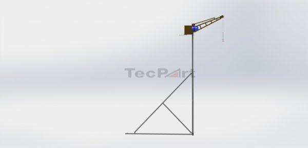 MINI-GRUA-CAP.-500KG-MODELO-TP1-COM-TRIPÉ-45m-Vista-Lateral-Direita